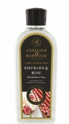 Ashleigh & Burwood RHUBARB & ROSE Scented Fragrance Lamp Oil 500ml Refill Bottle
